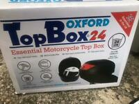Motorcycle or scooter Top Box. Oxford 24