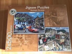 Nostalgic Escapes Jigsaw Puzzle 2x500 pieces NEW