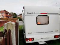 2002 YEAR CARAVAN SWIFT CHARISMA WITH MOTOR MOVER , AWNING AND FULL EQUIPMENT