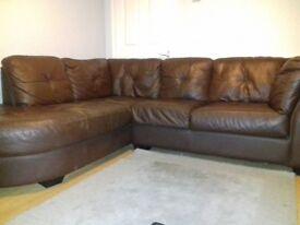 Briwn corner sofa