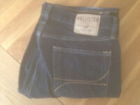 """'The Hollister Slim Boot' Men's Low Rise Slim Boot Jeans (34""""W x 32""""L) (worn twice only) REDUCED"""
