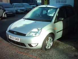 fiesta 03 1.2 door silver 1 yrs mot £1350