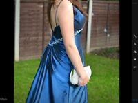 Kingfisher blue prom dress