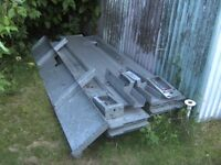 SET OF GENUINE BRIAN JAMES ALLOY TRAILER SIDES WITH HEADBOARD & TAILBOARD POSTS & PINS.