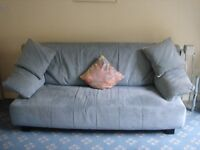 Blue Suede 3 seater and 2 seater settees (will consider selling separately)