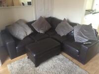 Next italian leather corner sofa