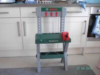 Bosch Toy Workbench and tools.