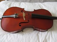 stentor 2 3/4 size cello for sale (no bow but has a padded case). Cost £500 new.