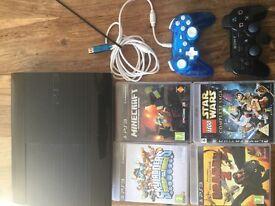 PlayStation 3. 500gb. Skylanders, Dragon 2, Starwars, minecraft, 2 controllers ,headset, VGC.,