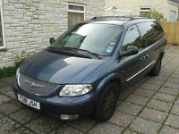 CHRYSLER GRAND VOYAGER LIMITED, AUTO, 3.3L PETROL, REGISTERED 2001