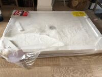 Brand new, unused - Mode 1200x800 white slate effect shower tray