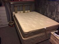 Beautiful Frame Double Bed with mattress for sale