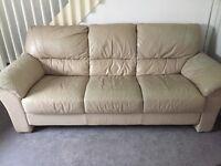 2. 3seater cream sofas for quick sale