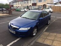 Mazda 6 in stunning blue ,very low miles , long mot , px options available