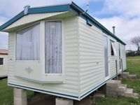 Static holiday caravan on Trenance Holiday Park Newquay Cornwall
