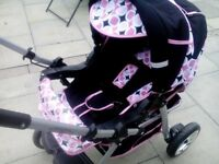 girls pram like new used twice