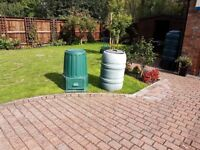 Two compost bins 900mm high X 500mm across base