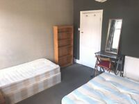 Twin room/Double room for 2 people with 2 beds, TV and fridge . All bills included