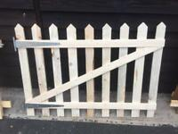 Wooden fence and gate