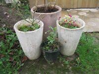 garden plant pots x4
