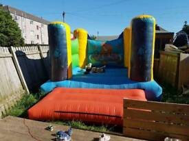 Sharks tale 10 ft by 10 ft ex hire boncey castle with blower