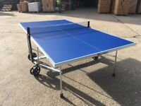 Blue Cornilleau Sport 100S Crossover Outdoor Table Tennis Table *ASSEMBLED* (mint condition)