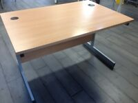OFFICE DESK - BEECH STYLE VERY ROBUST