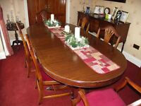Bevan Funell Dining Room Suite comprising table, 6 chairs and sideboard