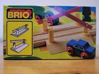 BRIO Vintage Wooden Train Level Crossing Barriers No 33359