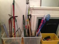 ASSORTMENT OF GARDEN TOOLS, SEE PHOTO