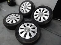 "Audi A3 16"" Alloy wheels with Tyres - Alloys are 5x112 fits VW Golf MK5 A6 SEAT"