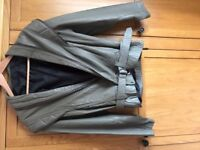 Khaki Green Leather Jacket and Trousers. Good condition