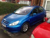 PEUGEOT 307 1.4, 2004 REG, MOT, LOW MILEAGE, HPi CLEAR, NICE SPEC WITH ALLOYS & AIR CON