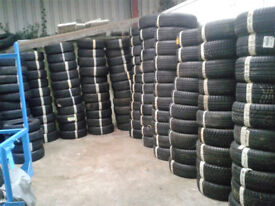 """Large Quantity of Part Worn Tyres 13"""" to 21"""" Job Lot"""