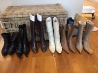 Women's Shoes - Boots and Heels, Small Sizes EU 33, 34, 34.5, 35, 14 pairs, selling as a job lot