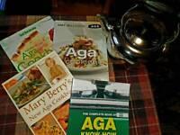 Aga books and Large farmhouse kettle