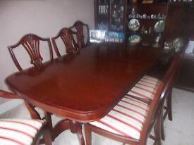 Dining Table & Chairs - Mahogany