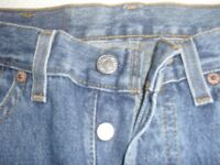 UNISEX GENUINE LEVI STRAUS ORIGINAL 501 JEANS - VINTAGE, COLLECTABLE 1987 WITH LABELS - SIZE 28