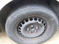 volkswagen PASSAT estate SILVER 20V wheel 205/60r15 and tyre BREAKING FOR Parts