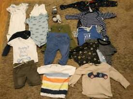 Baby clothes bundled 9-12 months