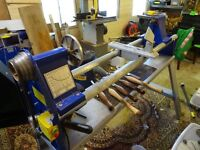 Wood lathe for sale including tools and Oneway Chuck