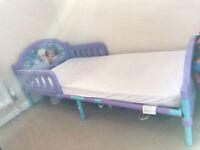 Childrens Frozen bed with matress