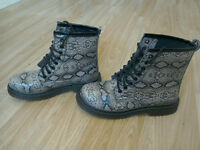 Snake Skin Print Boots Size 5
