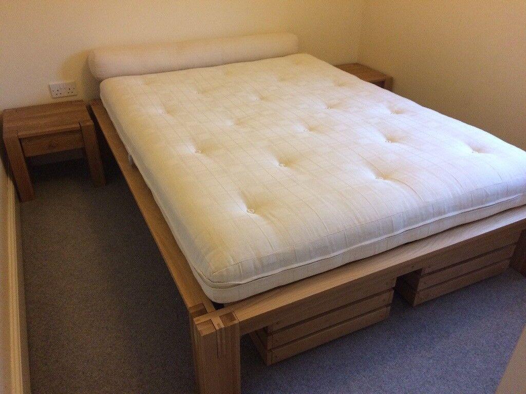 Futon Company Tatami King Size Oke Bed Pristine Condition
