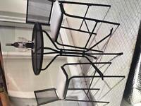 Garden bistro set. Table and chairs