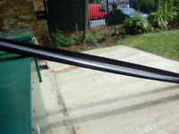 two 4metre lenghths of five inch round guttering