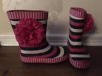 Striped / Floral wellies size 9 toddler