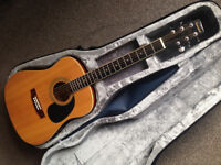 SAMICK LW-028-GSA Acoustic Guitar with case