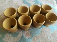 Denby ode stoneware egg cups x 8cups