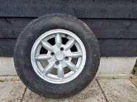 Minator MGB Wheels and tyres. (Full set)